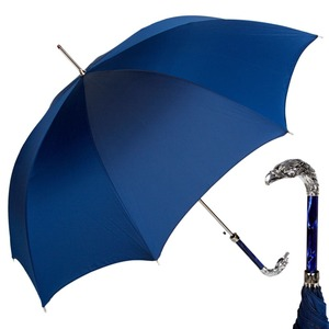 Зонт-трость Pasotti Eagle Silver Oxford Blu фото-1