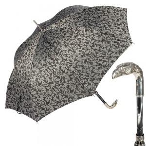Зонт-трость Pasotti Eagle Silver Reflection Grey фото-1