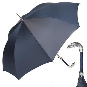 Зонт-трость Pasotti Eagle Silver StripesS Dark Blu фото-1
