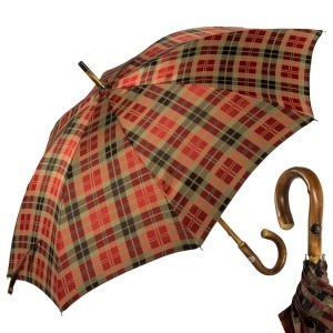 Зонт-трость Pasotti Chestnut Diamond Rosso фото-1