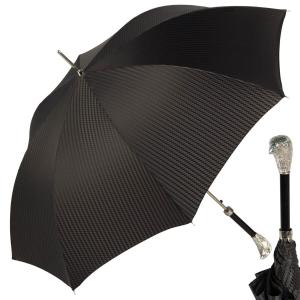 Зонт-трость Pasotti Falcon Silver Rombo Black фото-1