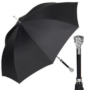 Зонт-трость Pasotti Ferro Silver StripesS Black фото-1