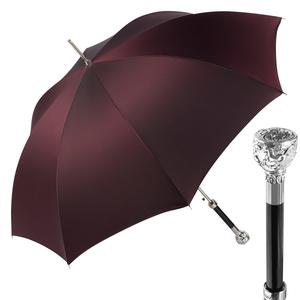Зонт-трость Pasotti Ferro Silver StripesS Bordo  фото-1