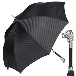 Зонт-трость Pasotti Fido Silver Rombes Black фото-1