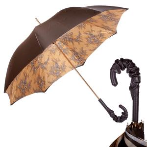 Зонт-трость Pasotti Giallo Dentell Pelle фото-1