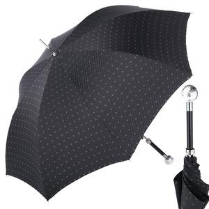 Зонт-трость Pasotti Golf Silver Rombo Black фото-1