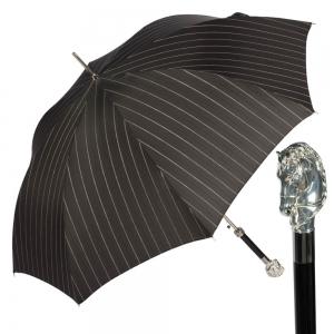 Зонт-трость Pasotti Horse Silver StripesL Black фото-1