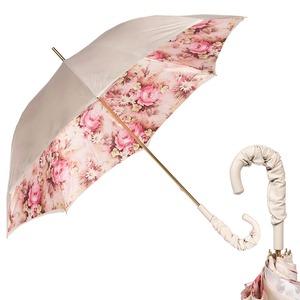 Зонт-трость Pasotti Ivory Daizy Pelle фото-1