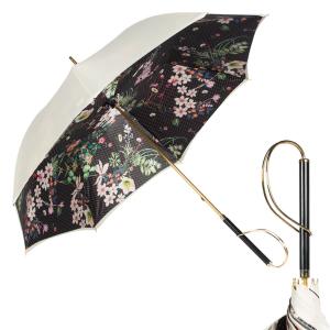 Зонт-трость Pasotti Ivory Dots Flowers Rapira фото-1