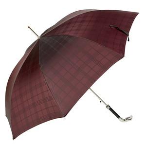 Зонт-трость Pasotti Jaguar Silver Cell Bordo    фото-1
