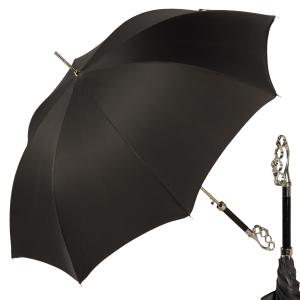 Зонт-трость Pasotti Kostet Silver StripesS Black фото-1