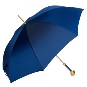 Зонт-трость Pasotti Leone Gold Oxford Blu фото-1