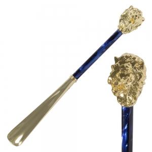 Ложка для обуви Pasotti Leone Gold Perlato Blu фото-1