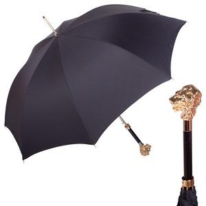 Зонт-трость Pasotti Leone Gold StripesS Black фото-1