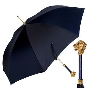 Зонт-трость Pasotti Leone Gold StripesS Dark Blu фото-1
