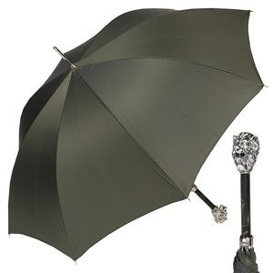 Зонт-трость Pasotti Leone Silver StripesS Oliva фото-1