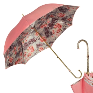 Зонт-трость Pasotti Magenta Wild Rosa Oro фото-1