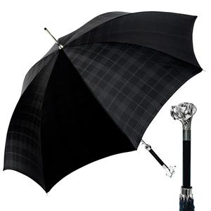Зонт-трость Pasotti Labradore Silver Cell Black фото-7