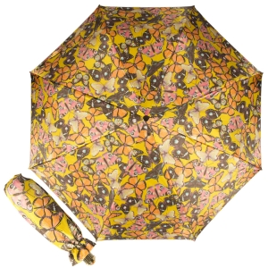 Зонт складной Pasotti Manual Batterflies Yellow Vetro фото-1