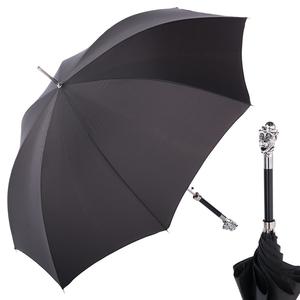 Зонт-трость Pasotti Monkey Silver Onda Black фото-1