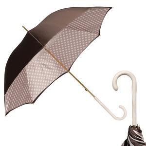 Зонт-трость Pasotti Marrone Pois Ivory Original фото-1