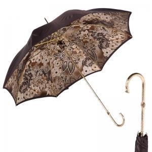 Зонт-трость Pasotti Marrone Novita Auto Oro фото-1