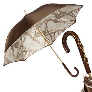 Зонт-трость Pasotti Marrone Rig Vernis фото-1