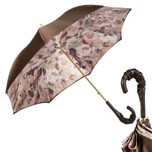 Зонт-трость Pasotti Marrone Tavo Pelle фото-1