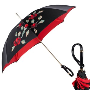 Зонт-трость Pasotti Nero Application Rosso Plastica фото-1
