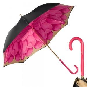 Зонт-трость Pasotti Nero Georgin Rosa Fuxia Original фото-1