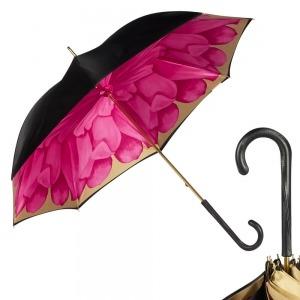 Зонт-трость Pasotti Nero Georgin Rosa Original фото-1
