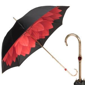 Зонт-трость Pasotti Nero Georgin Rosso Oro фото-1