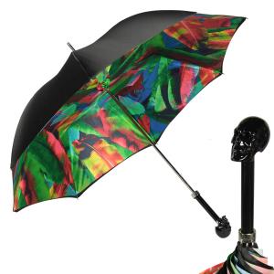 Зонт-трость Pasotti Nero Leaves Capo Black фото-1