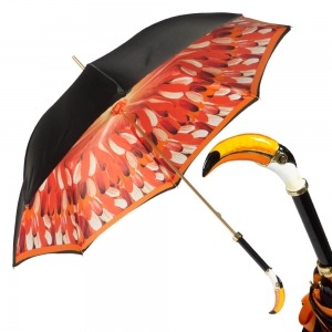 Зонт-трость Pasotti Nero Penna Tukan Lux фото-1