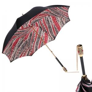 Зонт-трость Pasotti Nero Perls Rosso Botte фото-1