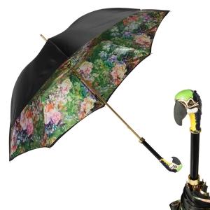 Зонт-трость Pasotti Nero Tropacal Pappagallo Lux фото-1