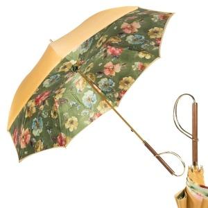 Зонт-трость Pasotti Ohra Flow Verde Rapira Oro фото-1