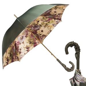 Зонт-трость Pasotti Oliva Fiore Pelle фото-1