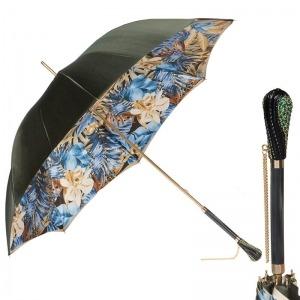 Зонт-трость Pasotti Oliva Blue Belezza Swarovski фото-1