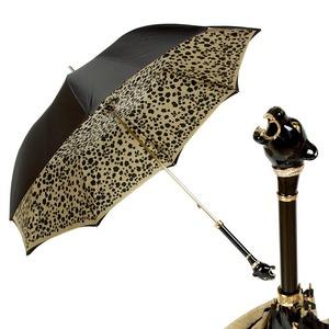 Зонт-трость Pasotti Nero Pantera Lux фото-1