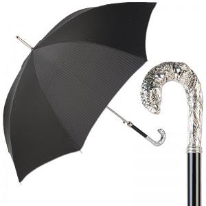 Зонт-трость Pasotti Pappagallo Codino Black фото-1