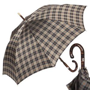 Зонт-трость Pasotti Smocked Hikory Diamond Marrone фото-1