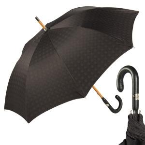 Зонт-трость Pasotti Pelle/Legno Strong Black фото-1