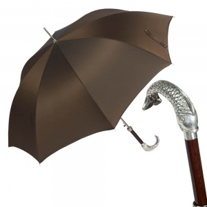 Зонт-трость Pasotti Pesce Silver Oxford Morrone фото-1