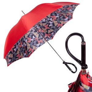 Зонт-трость Pasotti Rosso Buterfly Plastica фото-1