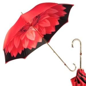 Зонт-трость Pasotti Rosso Georgin Oro  фото-1