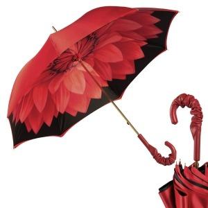 Зонт-трость Pasotti Rosso Georgin Pelle фото-1