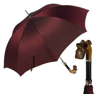 Зонт-трость Pasotti Schnauzer Oxford Bordo фото-1