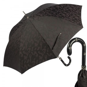 Зонт-трость Pasotti Sculls Pelle Divorzi Black фото-1