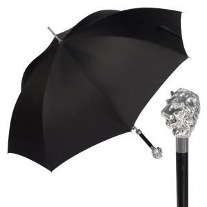 Зонт-трость Pasotti Leone Silver Niagara Black фото-1